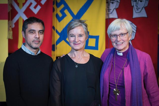 Mauro G V, Anne S och Ärkebiskop Antje Jackelén. Fotograf Magnus Aronson